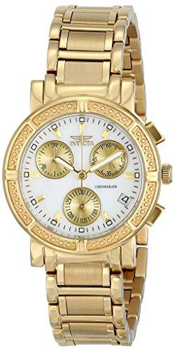 Invicta Women's 33mm 18K Gold Plated Bracelet & Case S. Sapphire Swiss Quartz MOP Dial Watch 4771