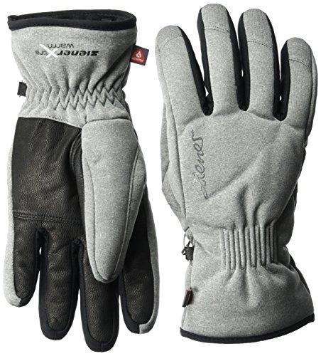 Ziener Damen Karine As(r) Pr Handschuhe, Grau (grey melange), Gr. 7.5