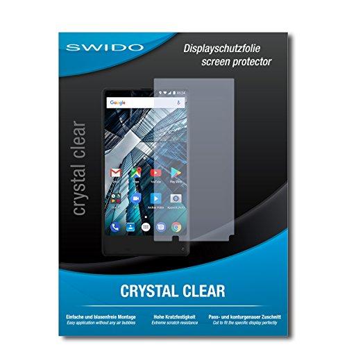 SWIDO Bildschirmschutz für Archos Sense 55S [4 Stück] Kristall-Klar, Hoher Härtegrad, Schutz vor Öl, Staub & Kratzer/Schutzfolie, Bildschirmschutzfolie, Panzerglas Folie