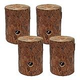 Holzstamm-Kerze mit Zitronella, 4 Fire Logs