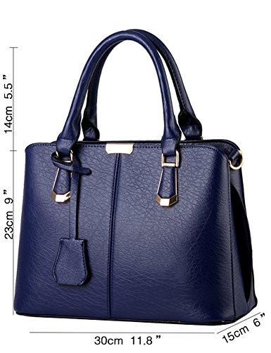 ed0c285bf5252 Menschwear Damen Handtasche Marken Handtaschen Elegant Taschen Shopper  Reissverschluss Frauen Handtaschen Sky-Blau Diamon-