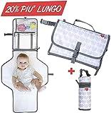 Cambiador portátil plegable de viaje, bolso cambiador para cambiar pañales, colchón y cojín, apto para recién nacidos y niños con portabiberón térmico incluido