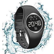 47032e3c1504 ... reloj digital pulsera numeros grandes. RCruning-EU Pulsera Actividad  Impermeable IP68 Fitness Smartwatch Tracker Contador de Pasos
