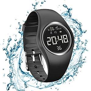 RCruning-EU Pulsera Actividad Impermeable IP68 Fitness Smartwatch Tracker Contador de Pasos, Contador de Calorías,Distancia niños Mujer Hombre - Non-Bluetooth Non-App 8