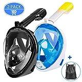 Omew Masque de Plongée, 2PCS Masque de Snorkeling, Intégral...