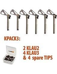 Kpack3. Pack de tornillos de hielo KLAU.