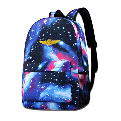dsgsd Schultasche US Navy Aircrew Wings Starry Sky Book Bag Quality Big Galaxy Backpack -