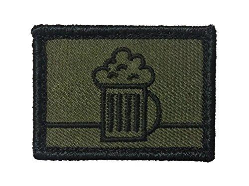 Café Viereck taktisches Bier Zeichen Truppengattungen Bundeswehr Fun Patch mit Klett Bierjäger Biernaschub Bieraufklärer Bieronier (Biernachschub)