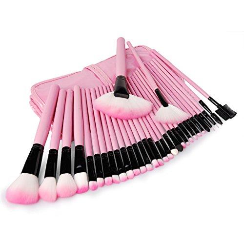 xcsourcer-kit-32-pzas-brochas-cepillos-herramientas-maquillaje-profesional-sombreador-ojos-ceja-pest