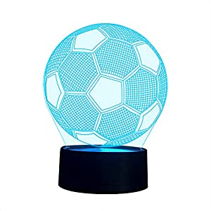 3D Illusion Nachtlampe, SUNINESS 7 Farben ändern Touch Control LED...