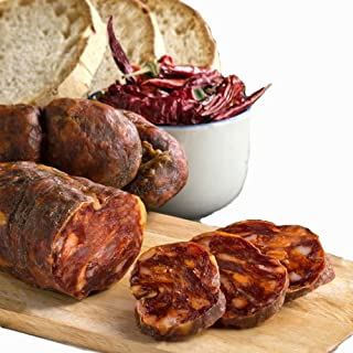 Soppressata von Kalabrien Wurst Italienische Salami Ohne Chili Pfeffer 350gr Qualitätsprodukt Sfizi di Calabria Kalabrische Spezialität Handwerksprodukt