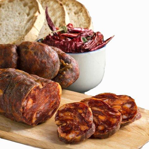 Soppressata salame tipico piccante artigianale sottovuoto stagionata