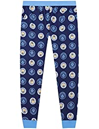 Manchester City Kit PJ Nightwear Football Sky//White Mens