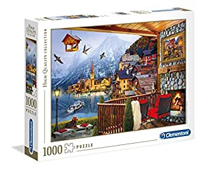 Clementoni Collection puzzle-hallstadt-1000 Unidades, Multicolor, 39481