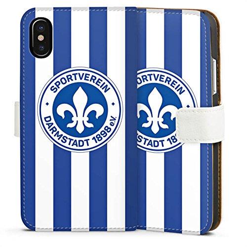 Apple iPhone X Silikon Hülle Case Schutzhülle Sport Sportverein Fußball Sideflip Tasche weiß