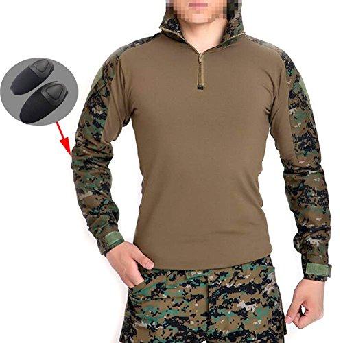 ATAIRSOFT männer BDU Combat Langarm Tarnhemd Mit Ellbogenschutz Schutz für Militärische Armee Airsoft AOR2 L