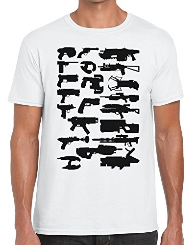 TeeDemon Famous Video Game Guns - Funny - Mens Shirts - Men's Tshirt - All Sizes - All Colours - Casual T-Shirt Gift by