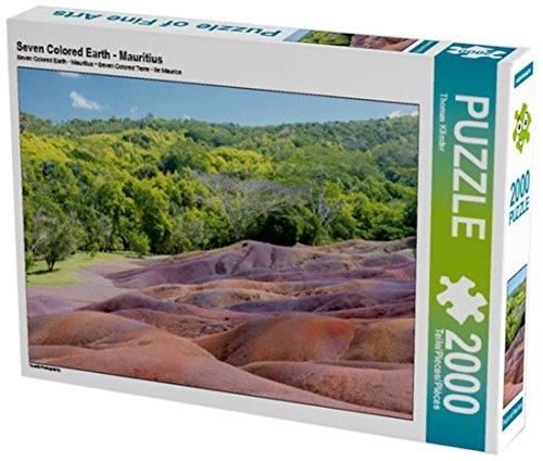 Preisvergleich Produktbild Seven Colored Earth - Mauritius 2000 Teile Puzzle quer (CALVENDO Natur)