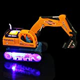 mxjeeio 27cm*10cm*16cm LED elektrische Baufahrzeug Bagger LKW Spielzeugauto Geschenk für Jungen Ohne Batterie