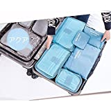 #9: PETRICE 6-Piece Packing Cubes Set with Laundry Bag – Multifuctional Water Resistant Mesh Clothing Storage Packages, Compression Travel Luggages Packing Organizer Pouch (Color may Vary)
