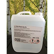 Bioetanol liquido 96.6º. 20 litros (4 garrafas de 5 litros) de combustible para