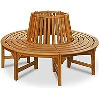 Baumbank 360° | FSC®-zertifiziertes Eukalyptusholz | Ø 189,5 cm | Vorgeölt | Rundbank Gartenbank Holzbank Bank