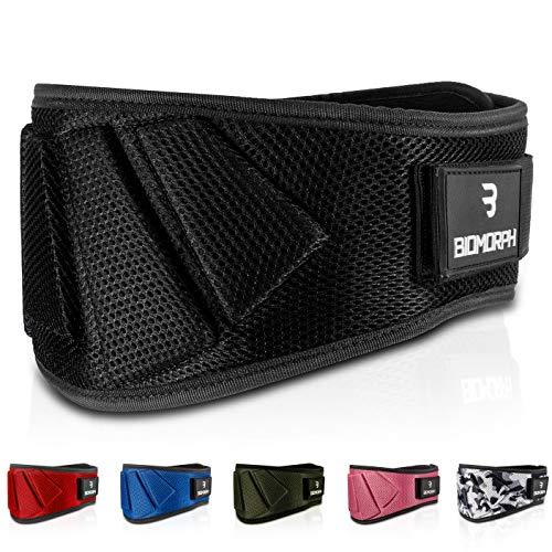 BIOMORPH Neopren Gewichthebergürtel - Weightlifting Belt für Kniebeugen, Kreuzheben und Rudern - Ultraleichter Bodybuildinggürtel für Kraftsport - Fitnessgürtel