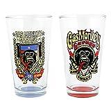 Gas Monkey Garage Go Big Pint (Set of 2), 16 oz., Clear