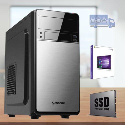 BSA PC INTEL Core i3 7350K 4.20 GHz 4GB SSD 120 GB Windows 10 USB 3.0 Computer Fisso