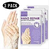 Maschera peeling per mani 3PC, guanti spa per migliorare l'umidità per mani asciutte, maschera esfoliante peeling per le mani, riparare la pelle ruvida per uomini e donne