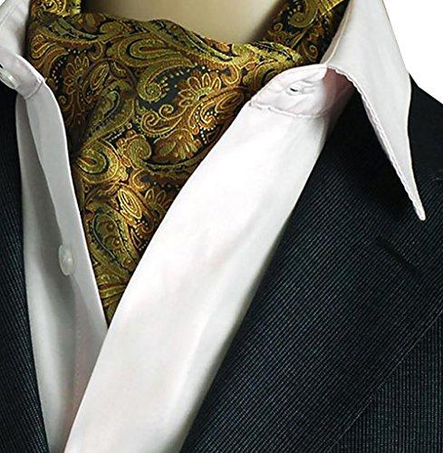 Kissing U Uomo Floreale Cravatta Ascot Sciarpe di Seta Signori Paisley Jacquard Woven Suit Accessori (16)