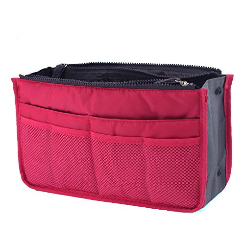 Packnbuy Multipurpose Hand Bag Organizer HOT PINK Color Purse Switcher Convienent Compact Stylish Trendy best for keys, cosmetics, electronics, make up kits