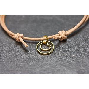 Armband Herz Circle Freundschaftsarmband Love Liebe Lederarmband
