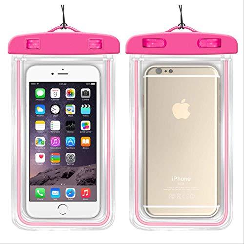 leihao888 wasserdichte Handyhülle für iPhone X Xs Max Xr 8 7 Samsung S9 Durchsichtige PVC-versiegelte Unterwasserzelle Smart Phone Dry Pouch CoverPink (Rosa Gehäuse Für Iphone 4s)