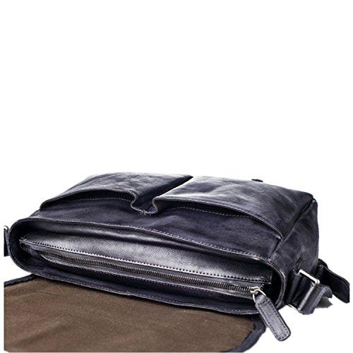Gehobene Herren Retro-Schulter/Diagonale/Taschen / / Wildleder Leder/Europa und Freizeit/Big-bags gray