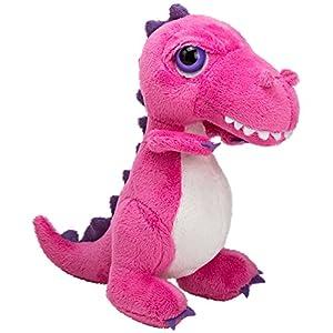 Li'l Peepers 14368 Tyrannosaurus-Rex Dinosaurier von Suki Gifts, Rosa 18 cm