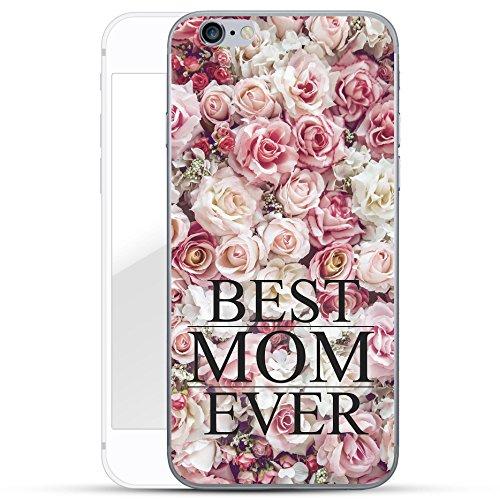Finoo Iphone 6 Plus/6S Plus Handy-Tasche Schutzhülle | ultra leichte transparente Handyhülle in harter Ausführung | kratzfeste stylische Hard Schale mit Motiv Cover Case | Best Mom Ever
