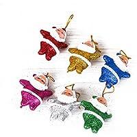 Zerama 6 Piezas de Adornos de Color Multi-Party de Santa Claus árbol de Navidad Decoraciones para Colgar