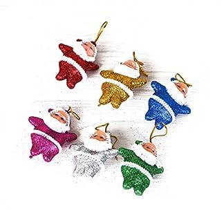Fangfeen 6 Piezas de Adornos de Color Multi-Party de Santa Claus árbol de Navidad Decoraciones para Colgar