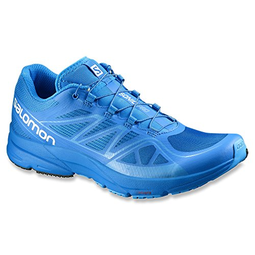 Salomon Sonic Pro - Chaussures de running - vert 2016 union blue/union blue/process blue
