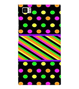 PrintVisa Polka Dots & Stripes Pattern 3D Hard Polycarbonate Designer Back Case Cover for Xiaomi Redmi Mi3