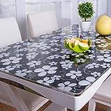 PVC-Kunststoff Transparent Matt Weichem Glas Kristall Platte Tischset Tischauflage Transparent Tischdecke Tischset Tischset (Muster : 16, Größe : 80x135cm(31x53inch))