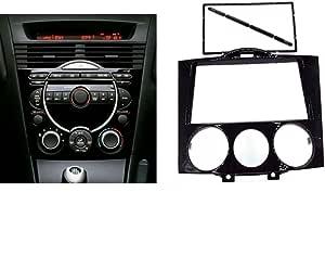 Nbvnbv Autoradio 2 Din Blende Radioblende Für Mazda Rx8 Rx 8 2003 2008 Dvd Cd Audio Rahmen Radiorahmen Set Doppel Din Radioblende Radioadapter Sport Freizeit