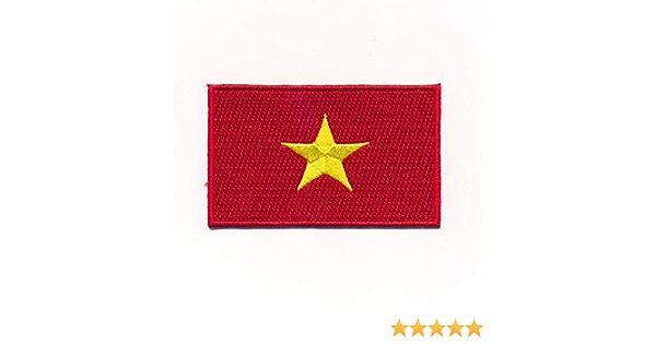 Hegibaer 60 X 35 Mm Vietnam Flagge Flag Hanoi Asien Patch Aufbügler Aufnäher 1161 B Auto