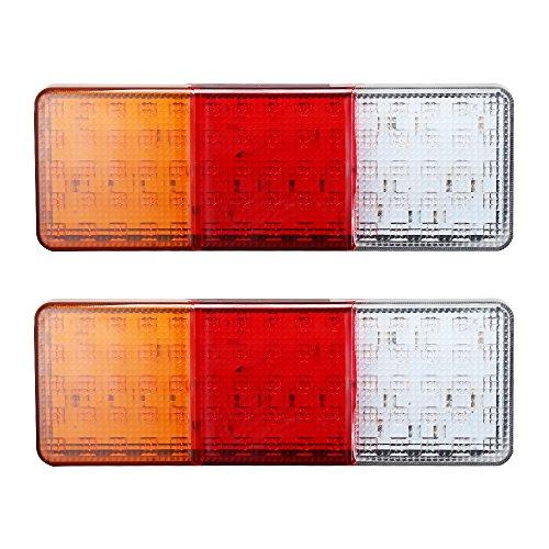 2PSC 75 LED Rückleuchten Lampen Rücklicht Wasserdicht  für LKW Anhaenger Camper Boot PKW Wohnmobil Wohnwagen (Kc-led-leuchten)