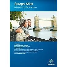 Aral Europa-Atlas: Reisekarten und Ortsverzeichnis, mit Cityplänen (Aral Touristikprogramm)