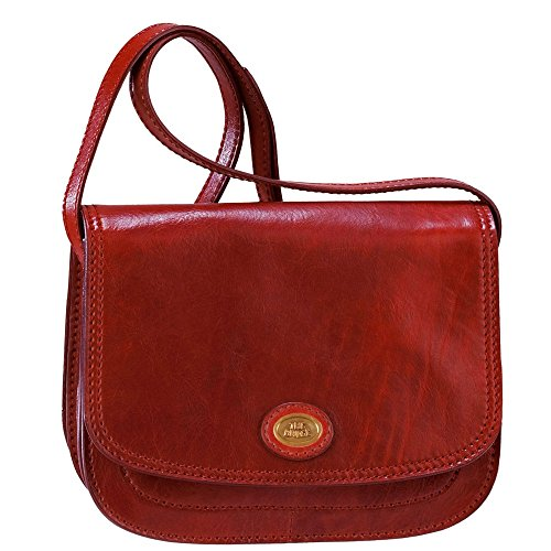 The Bridge Story Donna Sac bandoulière cuir 24 cm rosso ribes