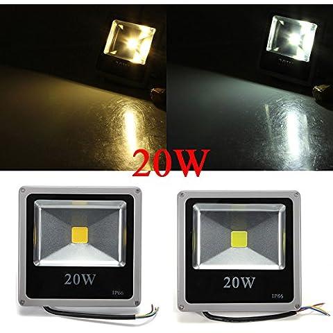 Luz de inundación de 20W Blanco / Cálido LED Blanco Gris Negro Shell 85-265V.