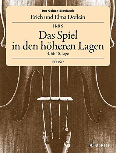 Geigen Schulwerk 5 ( Spiel in Den Hoheren Lagen ) Violon