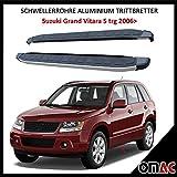 Schwellerrohre Aluminium Trittbretter für Suzuki Grand Vitara 5trg Dolunay (173)